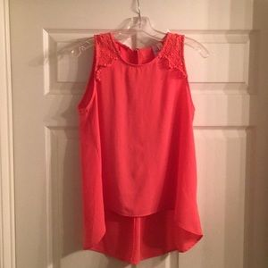 Coral pink blouse from Francesca's